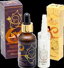 Парфюми, Парфюмерия, козметика Комплект - Elizavecca Vitamin C 100% Powder + Vita-Multi Whitening Sauce Serum (serum/30ml + essence/12g)