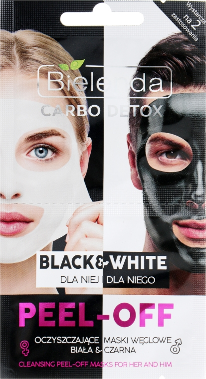 Маска за лице - Bielenda Carbo Detox Black & White Mask