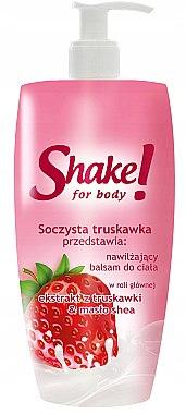 Регенериращ лосион за тяло с екстракт от ягода - Shake for Body Regenerating Body Lotion Strawberry
