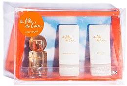 Парфюми, Парфюмерия, козметика Courreges La Fille de l`Air - Комплект (парф. вода/50ml + душ гел/50ml + лосион за тяло/50ml)