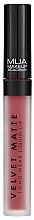 Парфюмерия и Козметика Течно матово червило за устни - MUA Academy Velvet Matte Long-Wear Liquid Lip