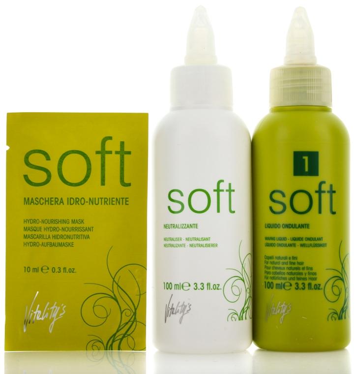 Продукт за химическо къдрене за тънка, не боядисана коса - Vitality's Soft №1