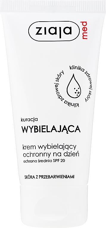 Избелващ крем за лице - Ziaja Med Protective Whitening Day Crem