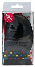 Парфюмерия и Козметика Компактна четка за коса, черна - Rolling Hills Compact Detangling Brush Black