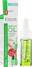 Парфюмерия и Козметика Парфюмно масло за нокти и кожички - Eveline Cosmetics Nail Therapy Professional Green Paradise