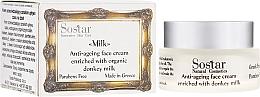 Парфюмерия и Козметика Антистареещ крем за лице - Sostar Anti-ageing Face Cream Enriched With Donkey Milk
