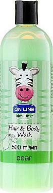 "Шампоан-душ гел ""Круша"" - On Line Kids Time Hair & Body Wash Pear — снимка N1"