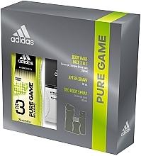 Парфюмерия и Козметика Adidas Pure Game - Мъжки комплект за тяло (лосион/50ml +део/150ml + душ гел/250ml)