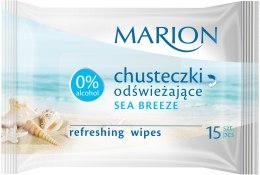 """Парфюми, Парфюмерия, козметика Освежаващи мокри кърпички """"Sea Breeze"""", 15бр - Marion"""