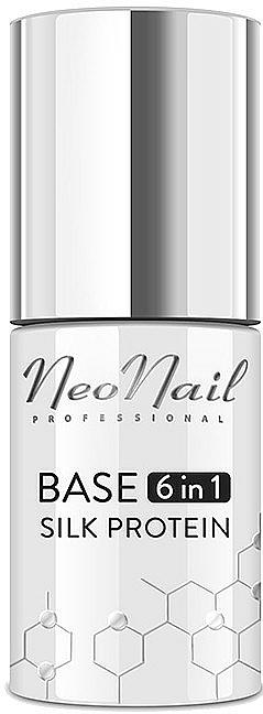 База за гел лак 6 в 1 с копринени протеини - NeoNail Professional Base 6in1 Silk Protein