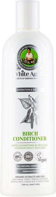 "Балсам за коса с бреза ""Овлажняване и баланс"" - Рецептите на баба Агафия White Agafia Birch Conditioner"