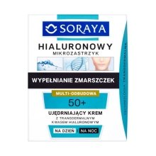 Парфюми, Парфюмерия, козметика Укрепващ крем за лице ден / нощ - Soraya Hialuronowy Mikrozastrzyk Firming Cream 50+