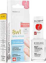 Парфюмерия и Козметика Заздравител за нокти 8в1 - Eveline Cosmetics Nail Therapy Total Action 8 in 1