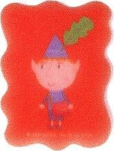 """Парфюми, Парфюмерия, козметика Детска гъба за баня """"Бен и Холи"""", Бен, червена - Suavipiel Ben & Holly"""