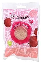 Парфюмерия и Козметика Почистваща гъба за лице с червена глина - Benecos Natural Konjac Sponge Red Clay