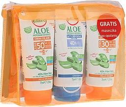 Парфюми, Парфюмерия, козметика Комплект - Equilibra Aloe Line (cr/75ml + b/milk/75 + cr/75ml + bag)