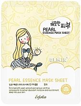 Парфюмерия и Козметика Памучна маска за лице с перли - Esfolio Essence Mask Sheet