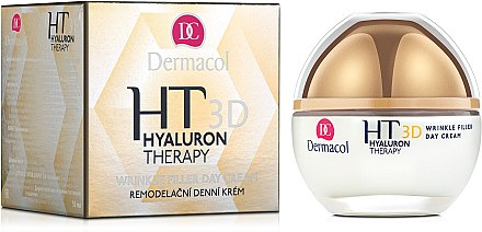 Дневен крем за лице с чиста хиалуронова киселина - Dermacol Hyaluron Therapy 3D Wrinkle Day Filler Cream