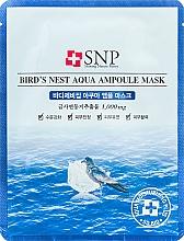Парфюмерия и Козметика Подмладяваща памучна маска за лице с екстракт от лястовиче гнездо - SNP Birds Nest Aqua Ampoule Mask
