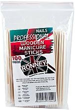 Парфюмерия и Козметика Дървени пръчици за избутване на кожички, 15 см - Ronney Professional