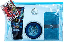 Парфюми, Парфюмерия, козметика Комплект - Marvel Avengers (heir/gel/75ml+sh/gel/75ml+cloth+bag)