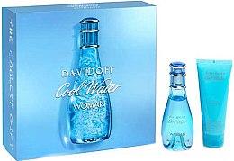 Парфюми, Парфюмерия, козметика Davidoff Cool Water Woman - Комплект (edt/50ml + b/lot/75ml)