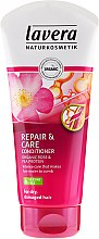 Парфюми, Парфюмерия, козметика Балсам за суха и изтощена коса - Lavera Rose&Pea Repair&Care Conditioner