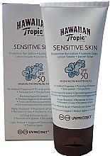 Парфюмерия и Козметика Слънцезащитен лосион за чувствителна кожа - Hawaiian Tropic Sensitive Skin Protective Sun Lotion SPF 50
