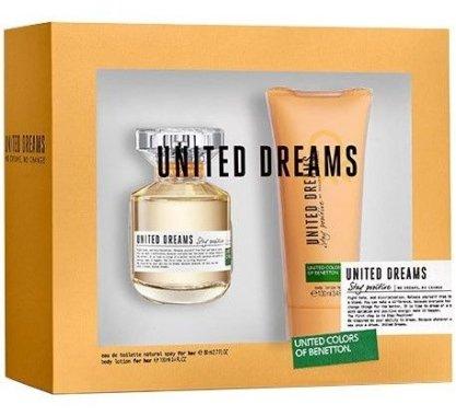 Benetton United Dreams Stay Positive - Комплект (edt/50ml + b/lot/100ml)
