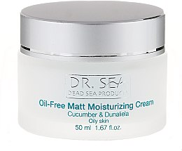 Парфюми, Парфюмерия, козметика Обезмаслен овлажняващ и матиращ крем с екстракт от краставица и дуналиела салина - Dr. Sea Oil-Free Matt Moisturizing Cream