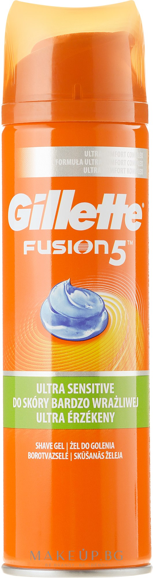 Гел за бръснене - Gillette Fusion 5 Ultra Sensitive Shave Gel — снимка 200 ml