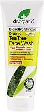 Парфюми, Парфюмерия, козметика Почистващ гел за лице с екстракт от чаено дърво - Dr. Organic Tea Tree Face Wash