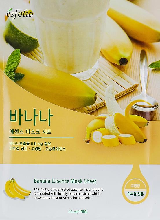 Памучна маска за лице с екстракт от банан - Esfolio Essence Mask Sheet