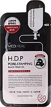 Парфюмерия и Козметика Маска за лице от плат - Mediheal H.D.P. Pore-Stamping Black Mask EX