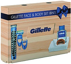 Парфюмерия и Козметика Комплект за бръснене - Gillette (styler/1pc + ash/lot/100ml + box + towel + crest)