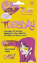 Парфюмерия и Козметика Хидрогел пачове за под очи с колаген и екстракт от банан - 7 Days Cheerful Tuesday Hydrogel Eye Patches