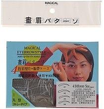 Парфюмерия и Козметика Шаблони за вежди, размер А1, А2, А3, А4 - Magical Eyebrow Style