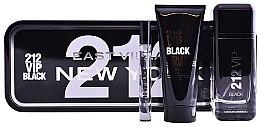 Парфюми, Парфюмерия, козметика Carolina Herrera 212 VIP Black - Комплект (парф. вода/100ml+душ гел/100ml+мини парф. вода/10ml)