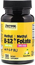"""Парфюмерия и Козметика Хранителна добавка """"Метил B-12 + Метилфолат + B6, таблетки за смучене - Jarrow Formulas Methyl B-12 & Folate Lemon Flavor"""