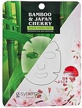 Парфюми, Парфюмерия, козметика Памучна маска за лице - G-synergie Bamboo & Cherry White Face Mask