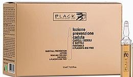 Парфюмерия и Козметика Лосион против косопад с пантенол и плацента под формата на ампули - Black Professional Line Panthenol & Placenta Lotion