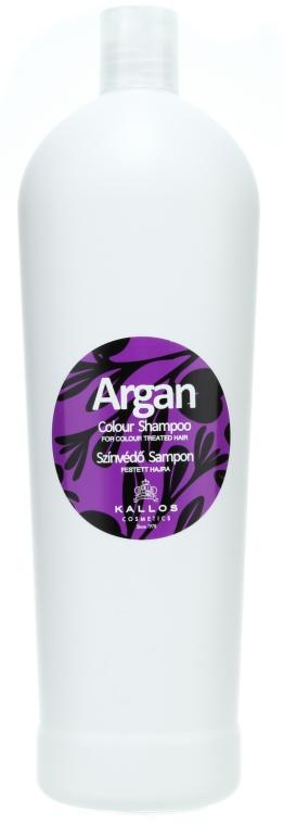 Шампоан за боядисана коса с арган - Kallos Cosmetics Argan Colour Shampoo