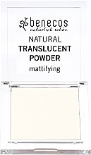 Парфюмерия и Козметика Benecos Natural Translucent Powder Mission Invisible - Прозрачна матираща пудра за лице
