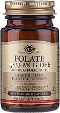 """Парфюмерия и Козметика Хранителна добавка """"Фолиева киселина"""" (800 mcg folic acid) на таблетки - Solgar Folate 1,333 MCG DFE"""