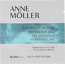 Парфюмерия и Козметика Овлажняващ гел за лице - Anne Moller Blockage 24h Moisturizing Defender Gel (мостра)