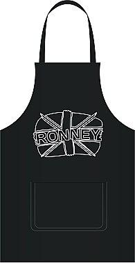 Фризьорска престилка в черен цвят - Ronney Professional Hairdressing Apron — снимка N2
