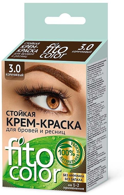 Дълготрайна крем-боя за вежди и мигли - Fito Козметик FitoColor