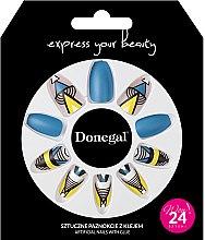 Парфюмерия и Козметика Комплект изкуствени нокти с лепило, 3051 - Donegal Express Your Beauty