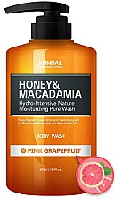"Парфюми, Парфюмерия, козметика Душ гел ""Розов грейпфрут"" - Kundal Honey & Macadamia Body Wash Pink Grapefruit"