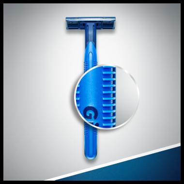 Комплект еднократни самобръсначки - Gillette Blue II Plus Chromium — снимка N7